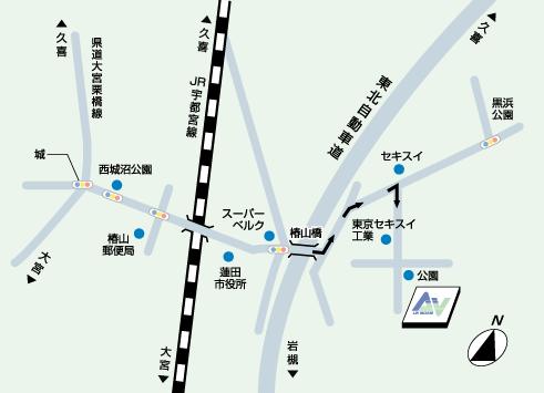 関東営業所地図